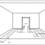 Installationszonen auf der Rohdecke gemäß DIN 15018