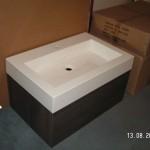 73 cm Waschbecken eckig mit dem Unterschrank