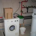 Eine Notlösung für Waschmaschine im Keller