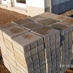 120 Gehwegplatten für Fundamentsteine