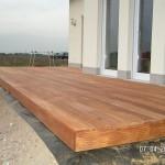 Fertige und eingeölte Terrasse