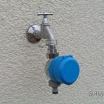 Der Gartenwasserzähler wurde verplombt