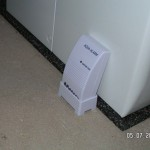 Aqua-Alarm neben der Waschmaschine