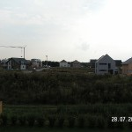 Ein Blick vom Fenster ins Baugebiet