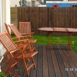 Auch die Terrassenmöbel werden eingeölt mit dem Hartholzöl