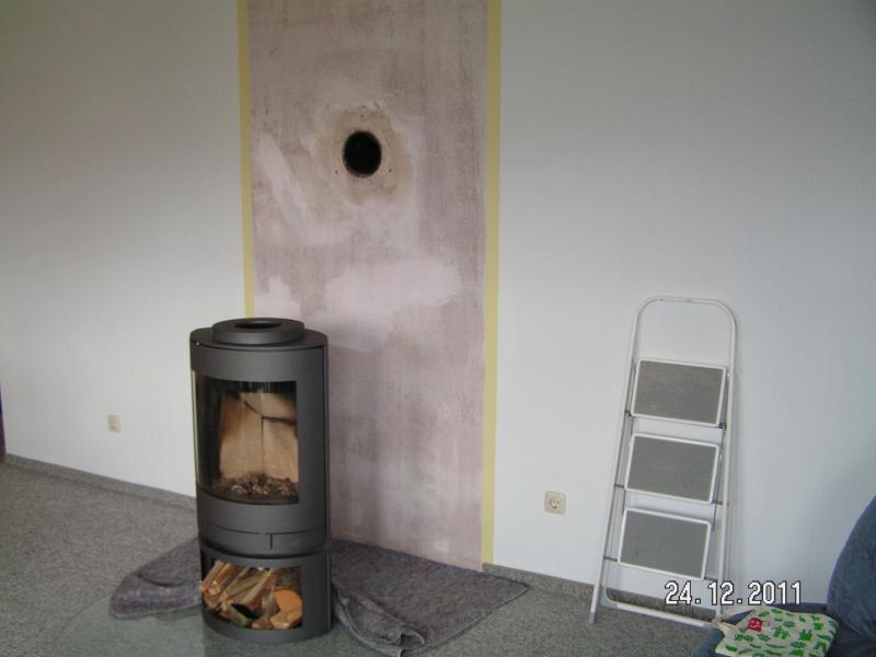 Berühmt Wandverkleidung hinter dem Kaminofen aus Naturstein | Baublog von AI68