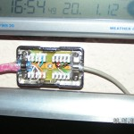 In der LSA-Box treffen sich CAT- und USB-Kabel