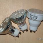 Drei Kandidaten im Test: Halogen, LED und Energiesparlampe