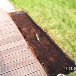 Aufgefüllt mit gutem Boden, Torf, Kompost und Tongranulat