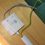 Beide Sensoren auf dem Dach gehen im Spitzboden ins Cat7-Kabel rein