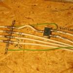 Sat-Kabel angeschlossen am Erdungsblock
