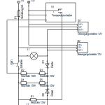 Schaltplan der Elektrik für die Katzenhütte