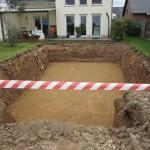 Neue Sichten auf unser Haus: die Poolgrube