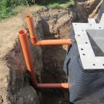 Belüftungsrohre für den GSA-Schacht