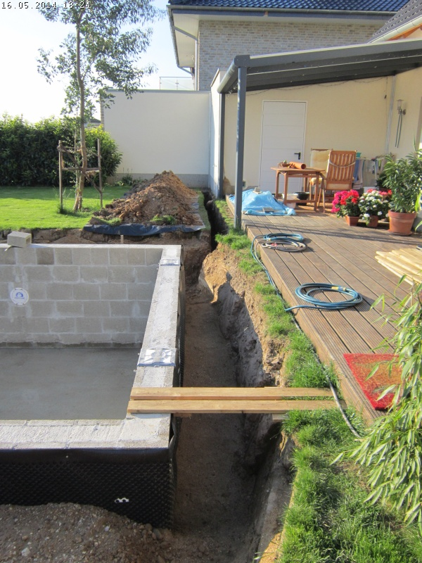 Pool ohne bodenplatte aufstellpool mit au enverkleidung for Garten pool 457x122