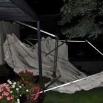 Und so sah das Zelt nach dem Sturm aus