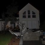 Glücklicherweise kaum Schäden am Haus