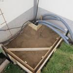 Einschalung für die Bodenplatte des Häuschen