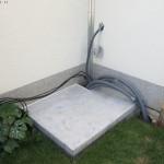 Bodenplatte bereit für die Pooltechnik
