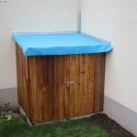 Das Technikhäuschen für den Pool ist fast fertig