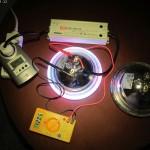 Die PAR56-Strahler brauchen nur ca. 30 Watt