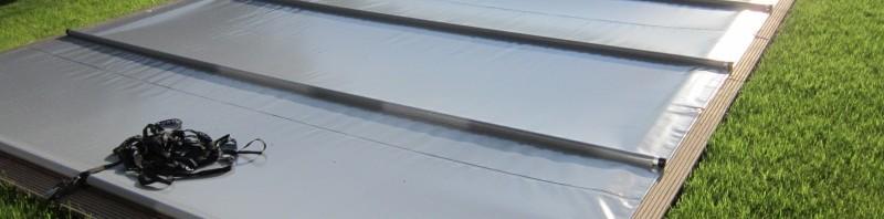 Rollabdeckung für den Pool