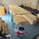 Die Garage wird zum Holzschutzstudio