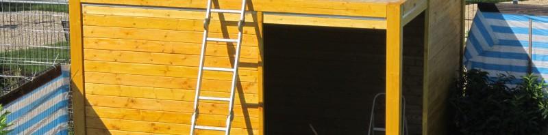 Ein Karibu Cubus Gartenhaus entsteht – Teil 2 Holz und Dach