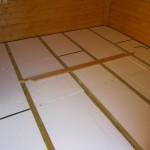 Fußboden gedämmt mit 4cm Styropor
