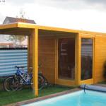 Fertig ist das Karibu Cubus Gartenhaus
