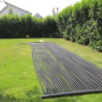 Ein Solarfeld wird langsam fertig