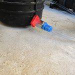 Rücklauf des Messwassers auf der Saugseite der Pumpe