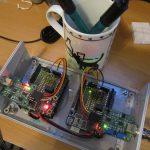 Zwischenstufe: Zwei Arduinos, zwei Elektroden und ihre galvanische Trennung mit DC-DC-Wandlern
