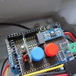ph-Arduino mit eigenem Stromregler, Kalibrierbuttons und Funkmodul auf einem Proto-Shield